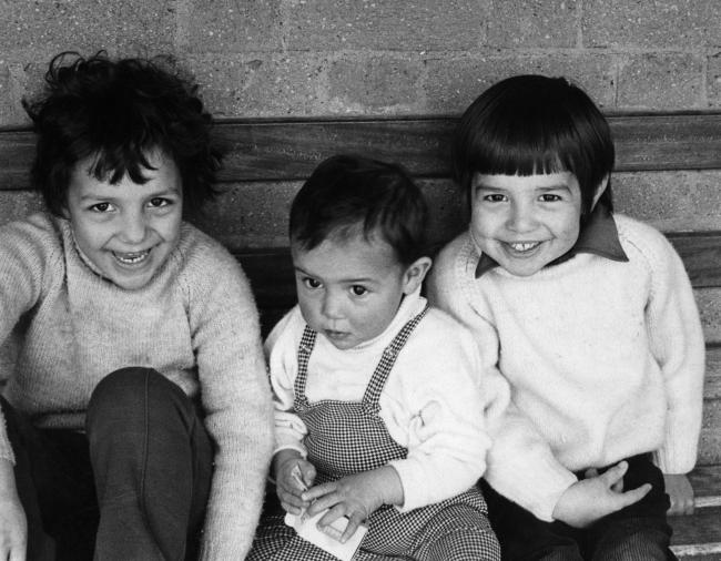 From left: Jo, Tara and Adam pictured in 1972. Adam would commit suicide while at Balliol College 16 years later