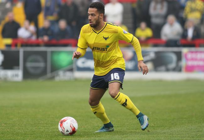 Jordan Graham during his first loan spell with Oxford United, in 2015  Picture: David Fleming