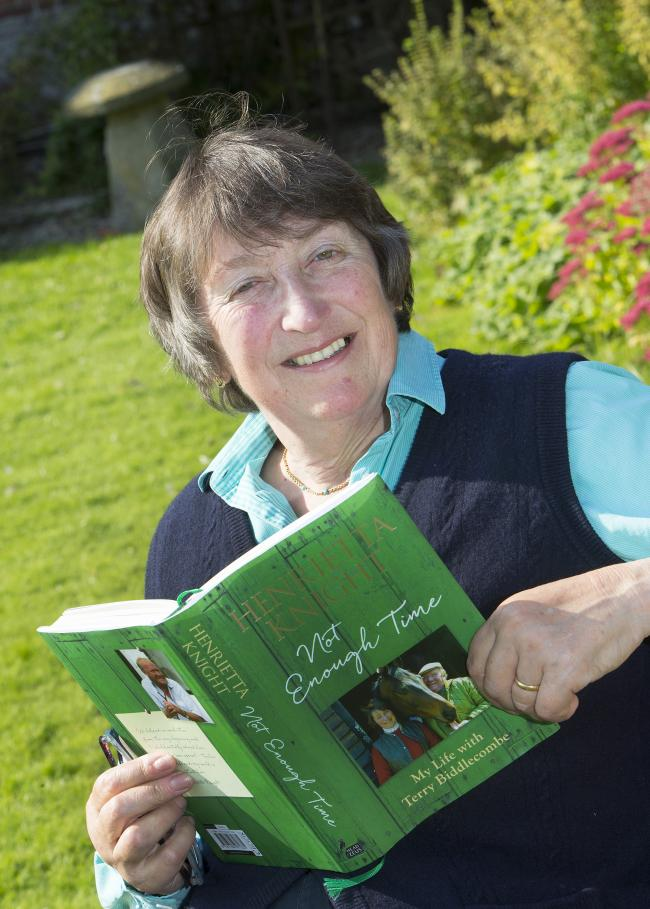 Henrietta Knight with her new book 'Not Enough Time', detailing the loss of her husband Terry Biddlecombe and also star chaser Best Mate