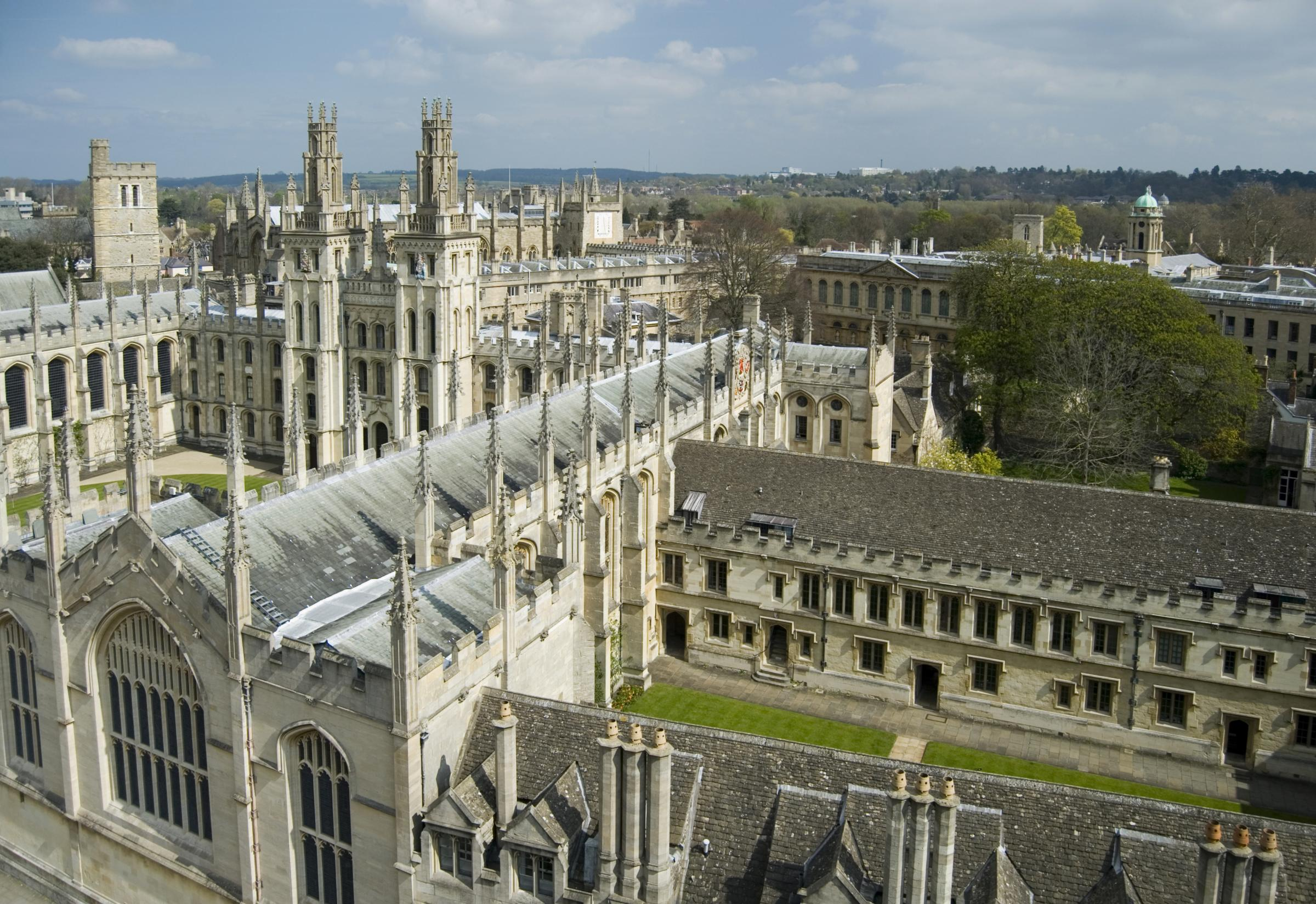 Seats of learning: Oxford University's colleges are not normally associated with the need for guns