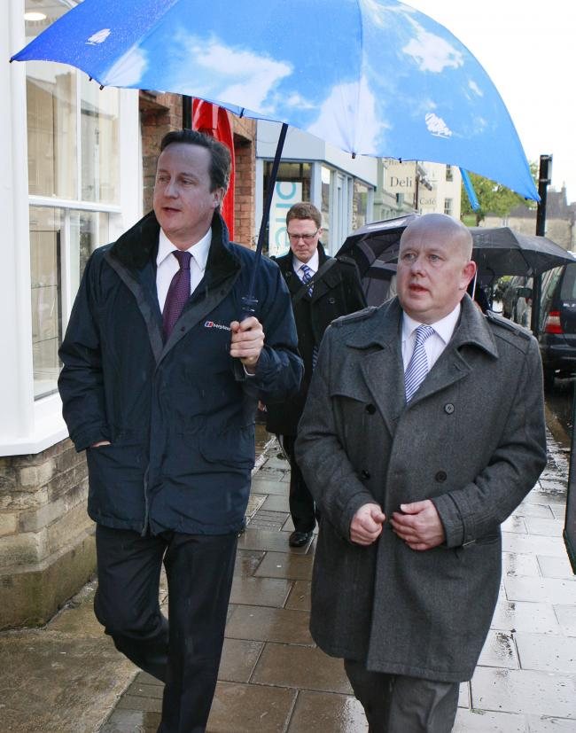 Difference of opinion: David Cameron and Ian Hudspeth pictured  on a walkabout in Woodstock in 2012