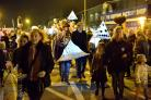 The lantern parade last year saw residents brave the chill for the spectacular show