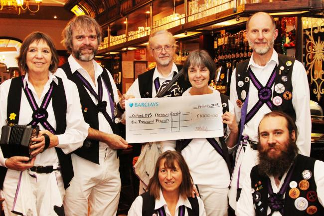 Cheque mates: Morris dance side raised £1,000 for MS therapy centre