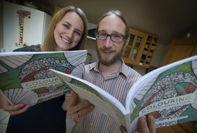 Colouring's in: Amber Hatch and husband Alex Ogg are riding the wave of success of adult drawing books