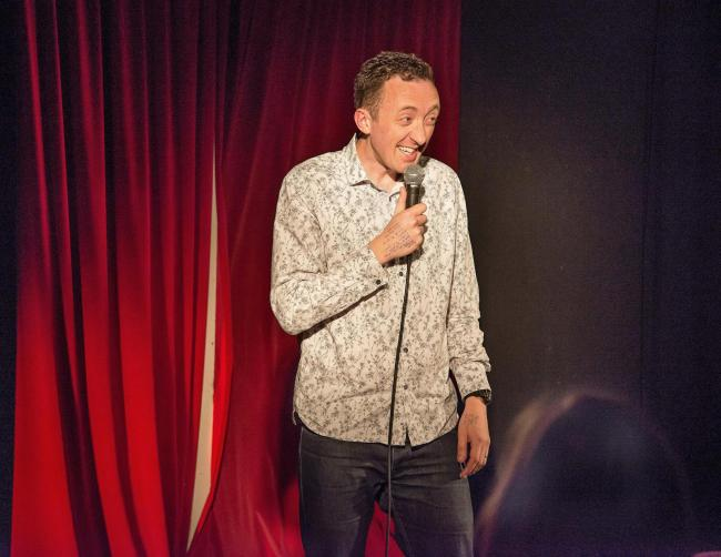 Woodstock Comedy Fest organiser Aidan Salter has a divine inspiration for laughs
