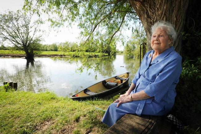 Stalwart: Theresa Prickett at the Old Ferry Landing on the River Cherwell at the Victoria Arms in 2012