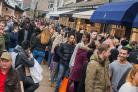 Shoppers at Bicester Village taking advantage of Black Friday sales