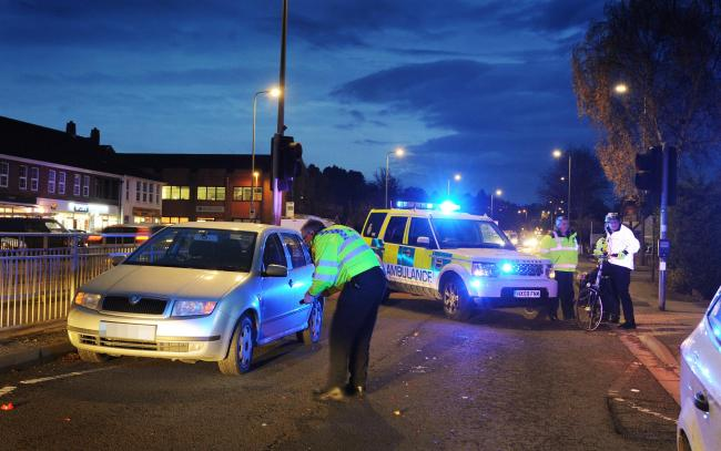 Aftermath: Police and ambulance crews at the scene of a road traffic collision last week at West Way, Botley