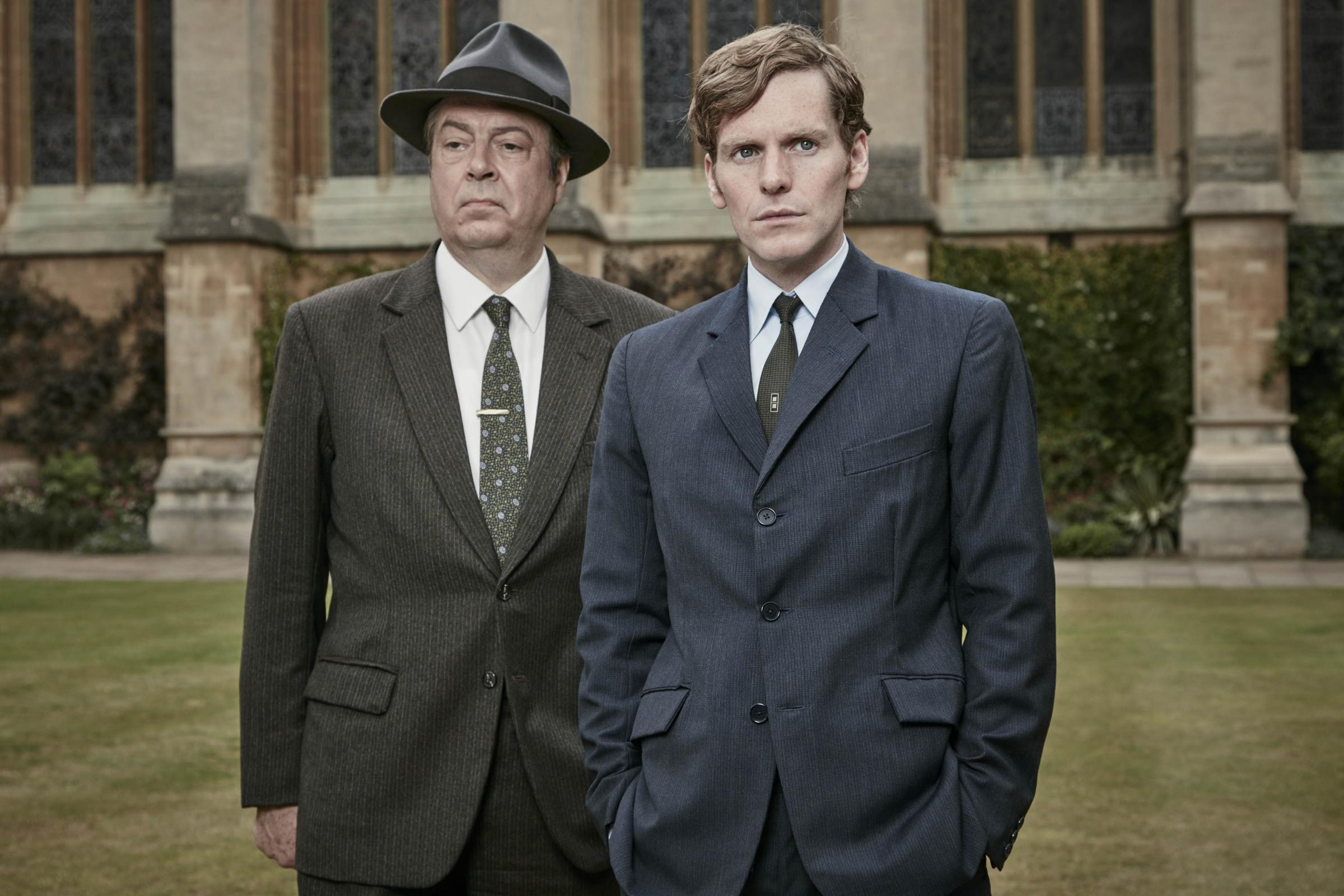 Roger Allam, who plays DI Fred Thursday, and Shaun Evans, who plays DC Endeavour Morse