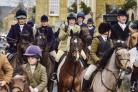 The Heythrop Hunt departs Market Place