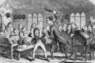 A typical scene of classroom punishment, Victorian style. George Stace was found not guilty after thrashing Oswald Baker, 11