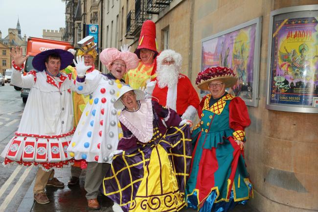 Members of the Oxfordshire Freemasons dressed up for the special performance of Aladdin they paid for at the Oxford Playhouse