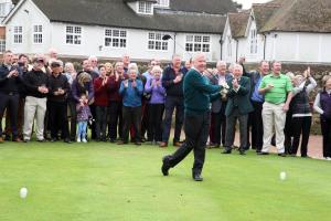 GOLF: Frilford Heath's new captain John Gowing admits to nerves on drive-in