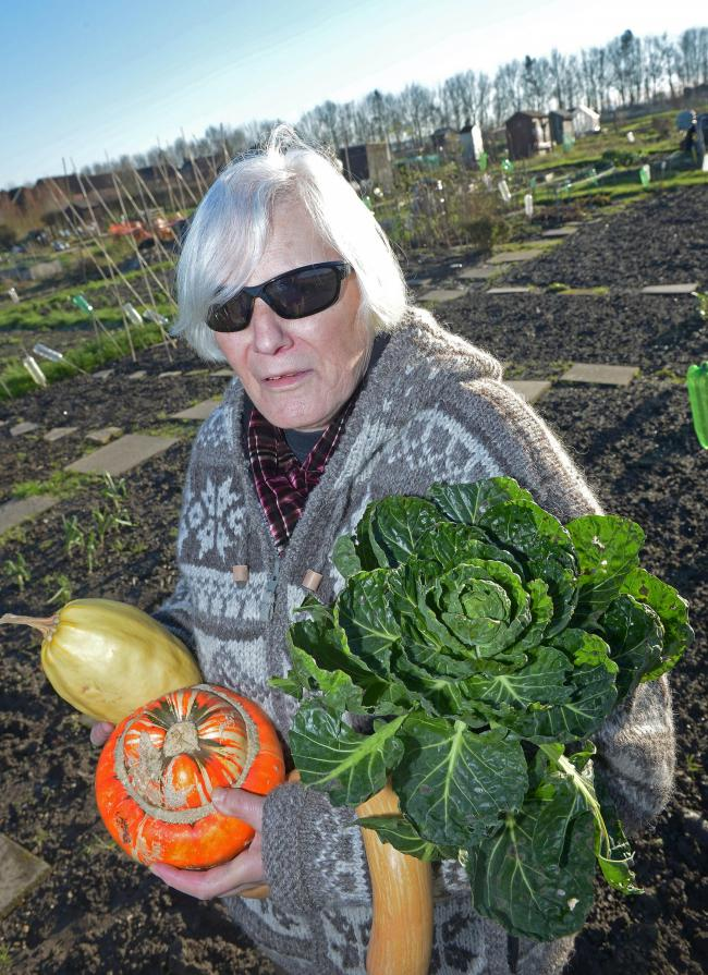 Allotment owner Eileen Bracken from New Road Allotments in Didcot who has formed an action group to combat the potential sale of allotments across Didcot