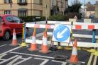 Roadworks in London Road, Bicester