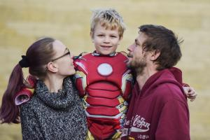 Seven-year-old Ironman fan Daniel has date in Hollywood with his big screen heroes