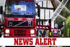 Caravan blaze in Moorbank