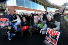 Fans of speedway, greyound racing, go-karting and tap dancing gather at Oxford Stadium to show their support for its reopening