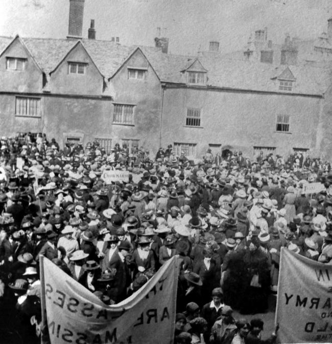 The Women's Land Army rally in Oxford in April 1918