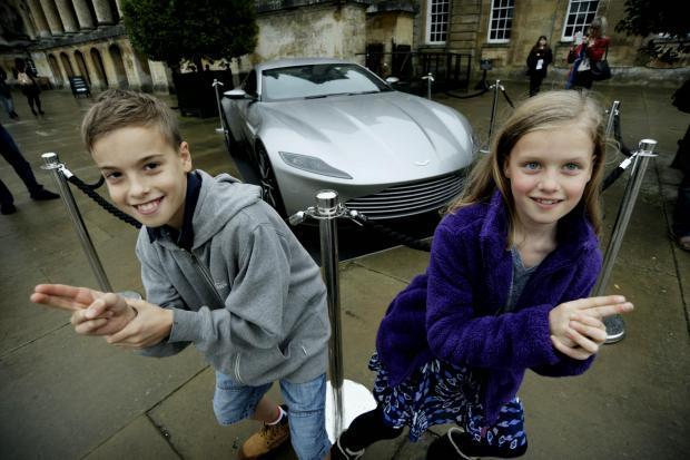 James Bond's Aston Martin DB10 which featured in Blenheim scenes