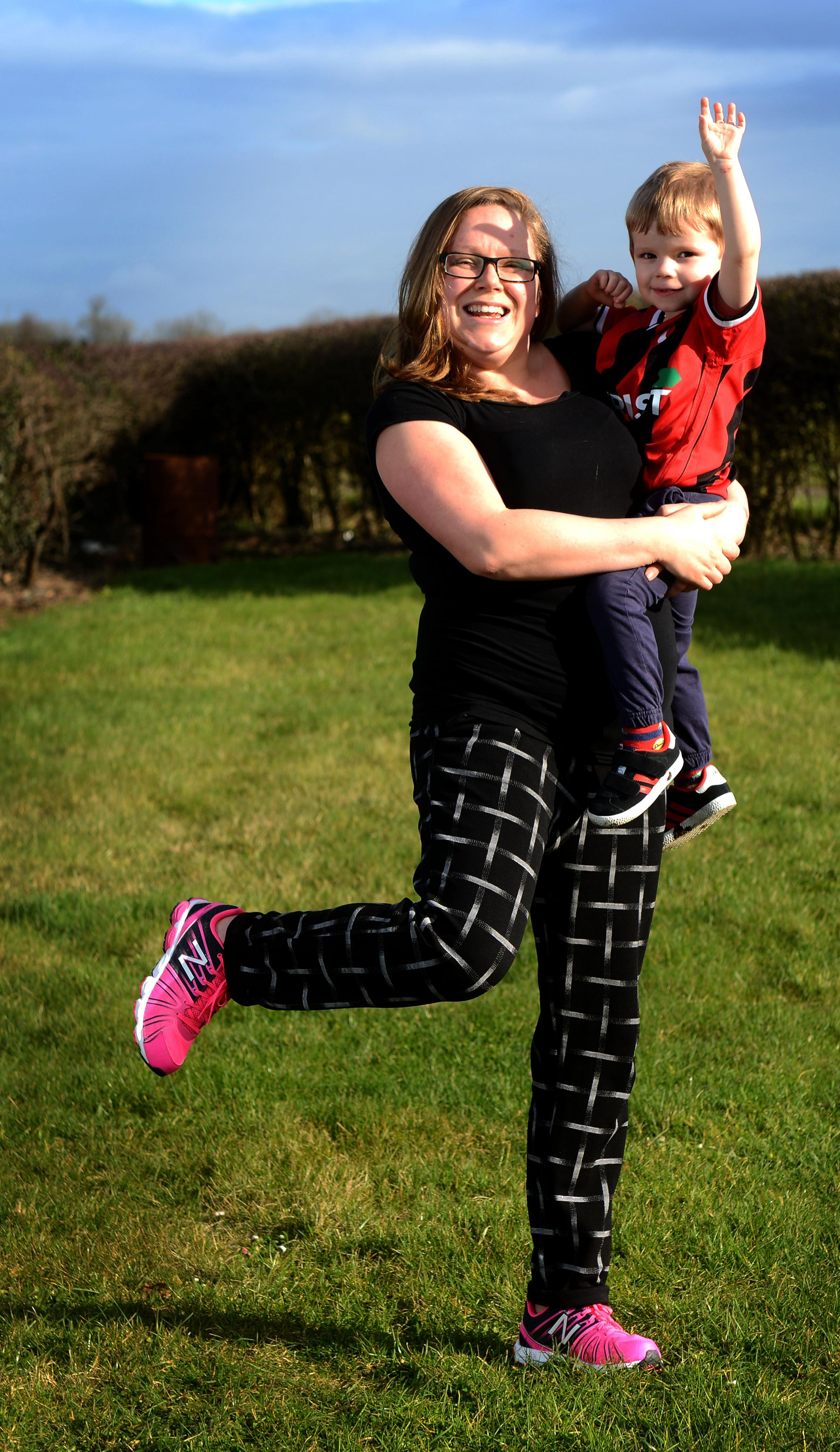 Jo Martin has signed up for the OX5 Run to raise funds for the children's hospital which treated her son Harry