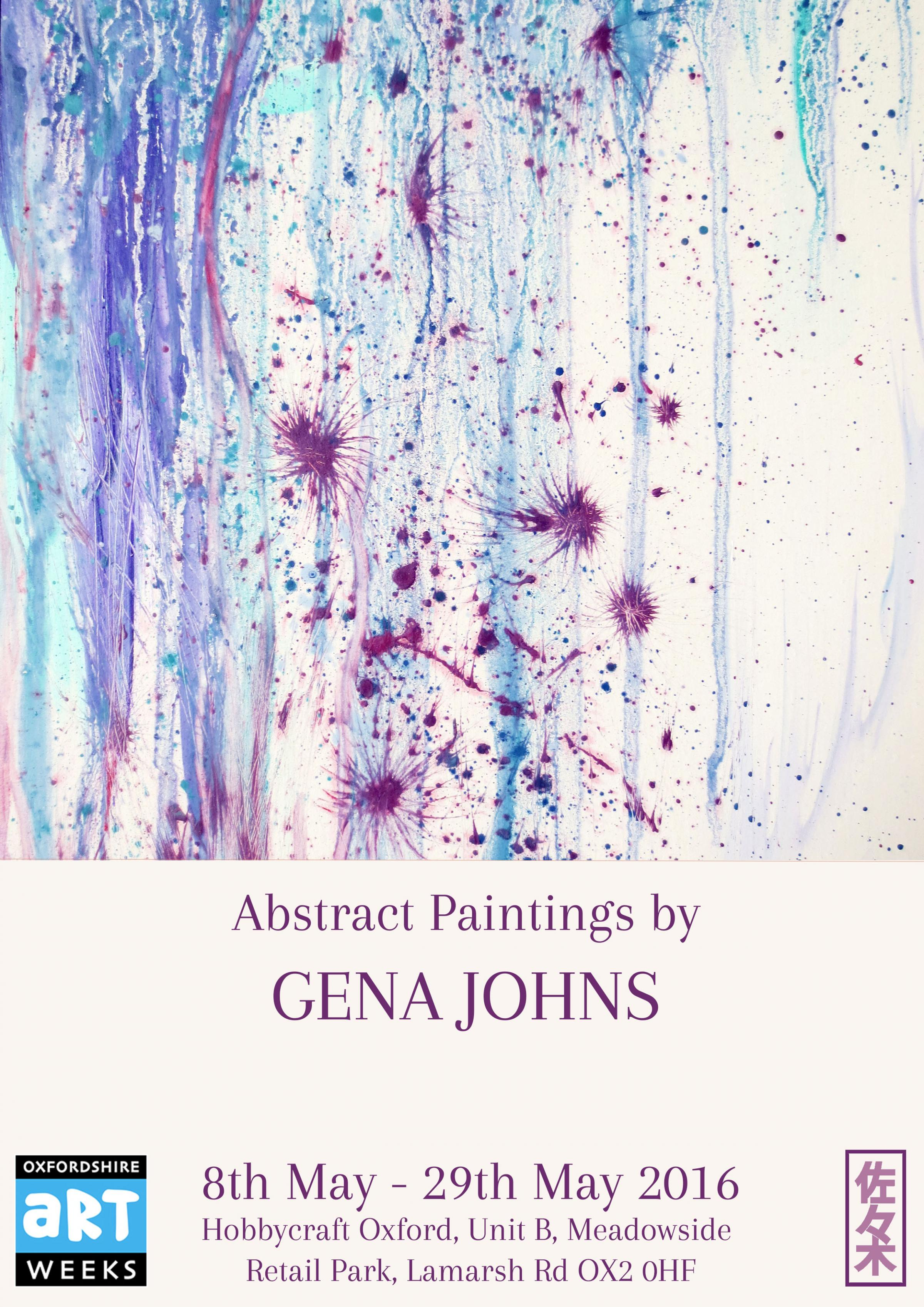 Abstract Paintings by Gena Johns