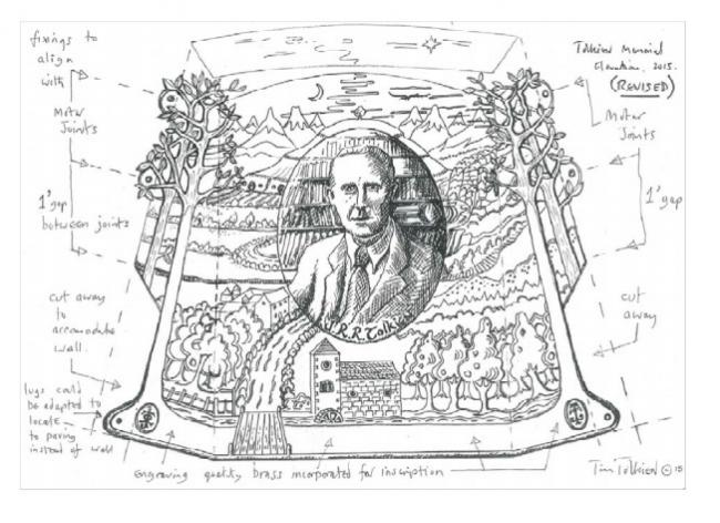 Plans for a memorial to J.R.R. Tolkien at Pembroke College