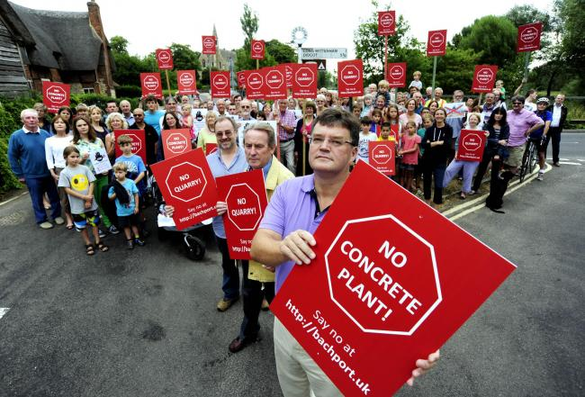 Villagers in Clifton Hampden and Long Wittenham protesting the quarry plans. Picture: David Fleming