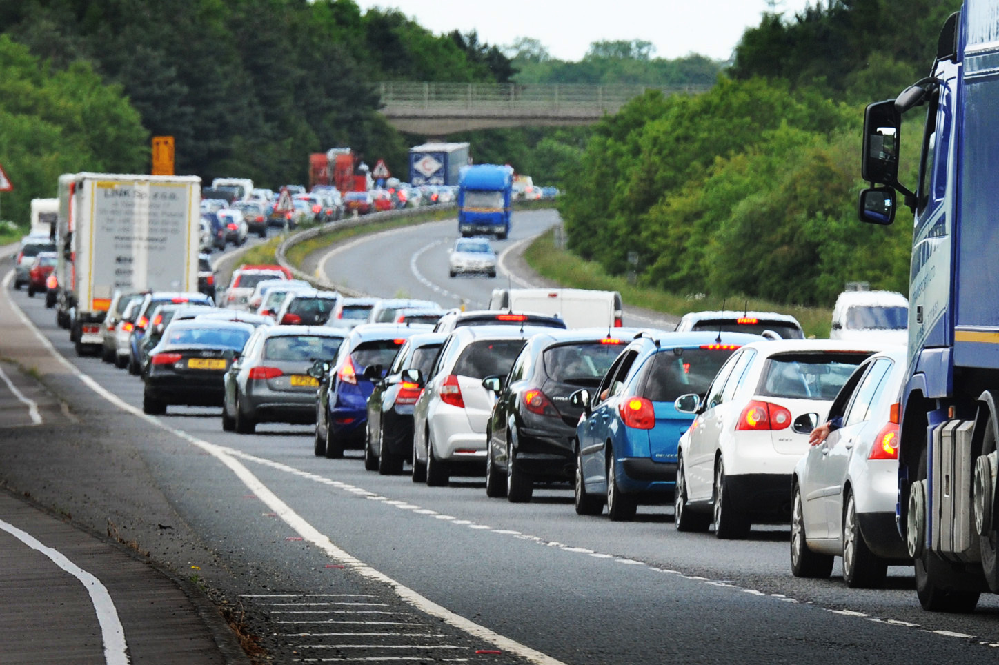 Queues on the A40 near Witney