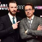 Oxford Mail: Robert Downey Jr and Chris Evans visit Avengers fan with cancer