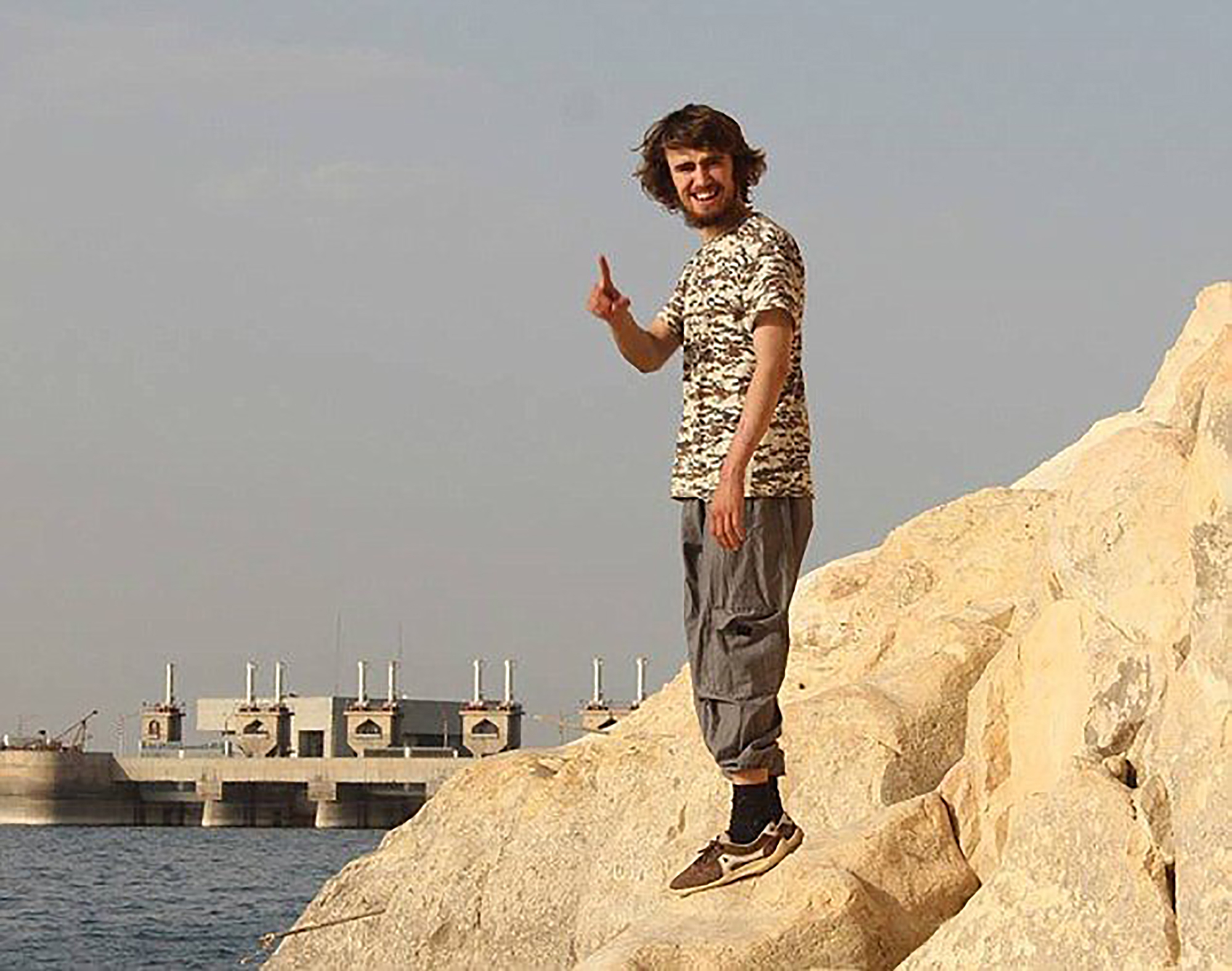Jack Letts pictured at the Tabqa Dam, on the Euphrates 25 miles outside Raqqa in Syria.