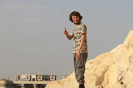 Oxford Mail: Oxford's Jack Letts who converted to Islam and changed his name to Ibrahim was reported in the Sunday Times as the first white recruit for ISIS, labelling him 'Jihadi Jack'. He is pictured here in a picture he posted in May 2015, at the Tabqa