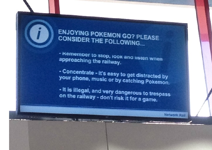 Don't risk it, commuters playing Pokemon GO at rail station warned