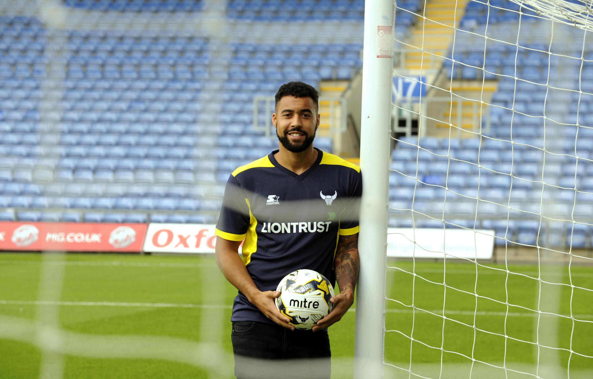 Kane Hemmings at the Kassam Stadium this afternoon  Picture: David Fleming