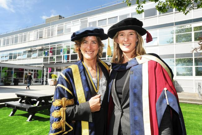 Chancellor of Oxford Brookes University Katherine Grainger CBE, who won gold medals in both the Olympics and World Championships at her inauguration last year