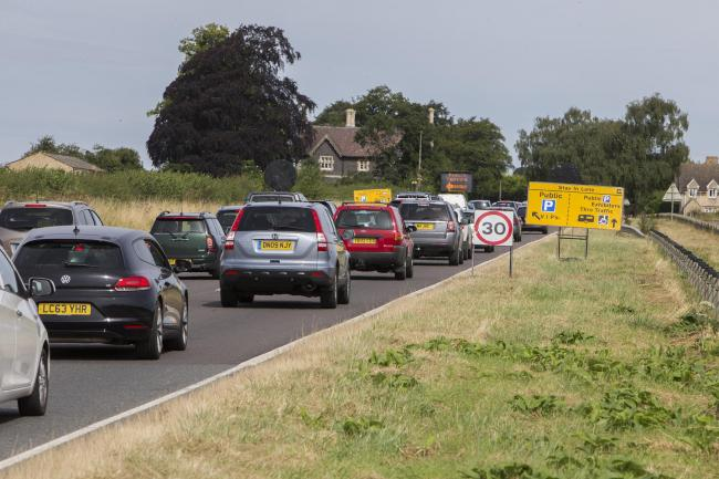 PICTURE: Damian Halliwell.CATCHLINE:  .LENGTH: lead.04/08/2016.BOOKED BY: pic desk.CAPTION:.Traffic queues along A44 near Kidlington Airport for Countryfile Live show at Blenheim Palace..