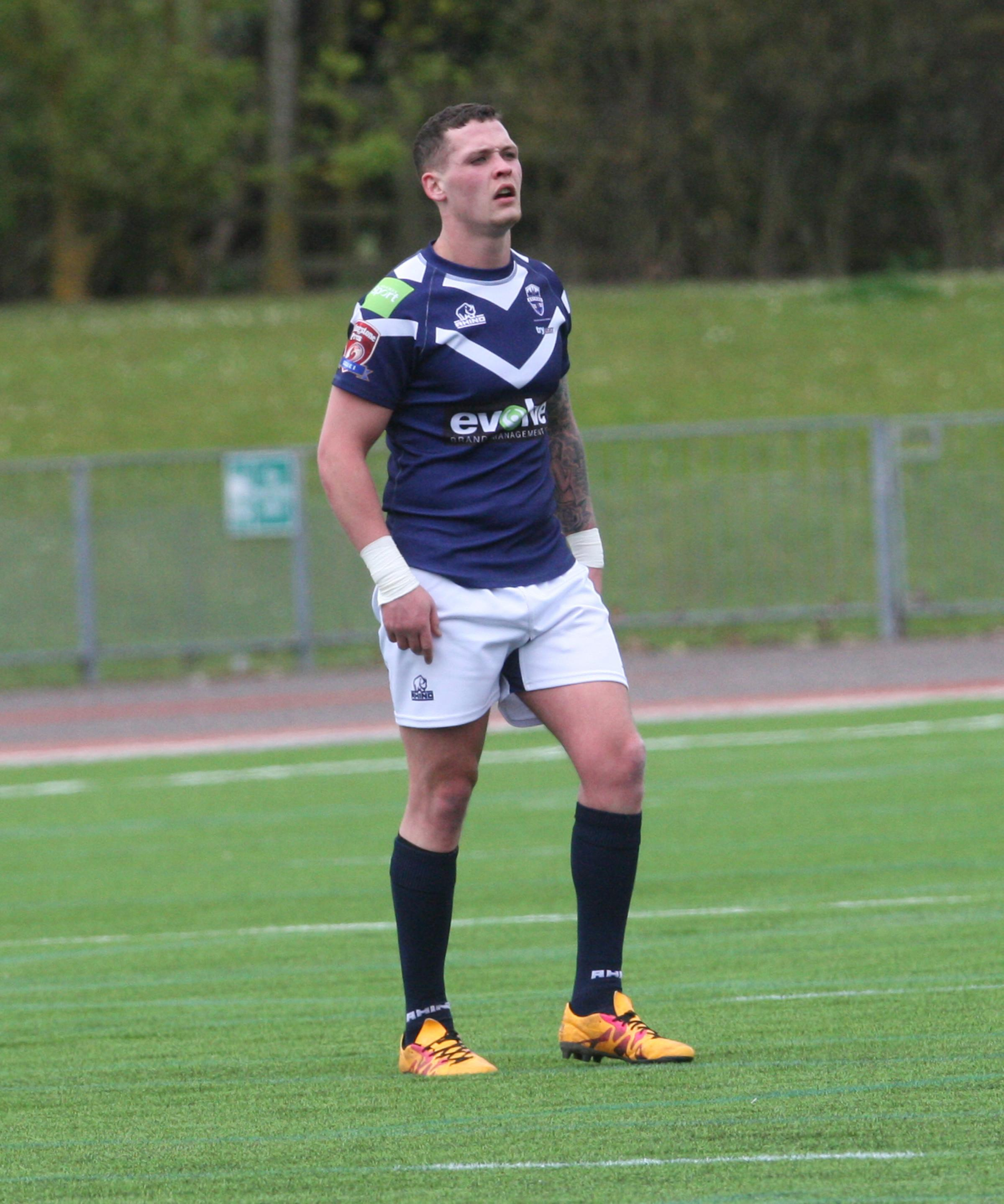 Josh Nathaniel scored two tries for Oxford RL Picture: Steve Wheeler