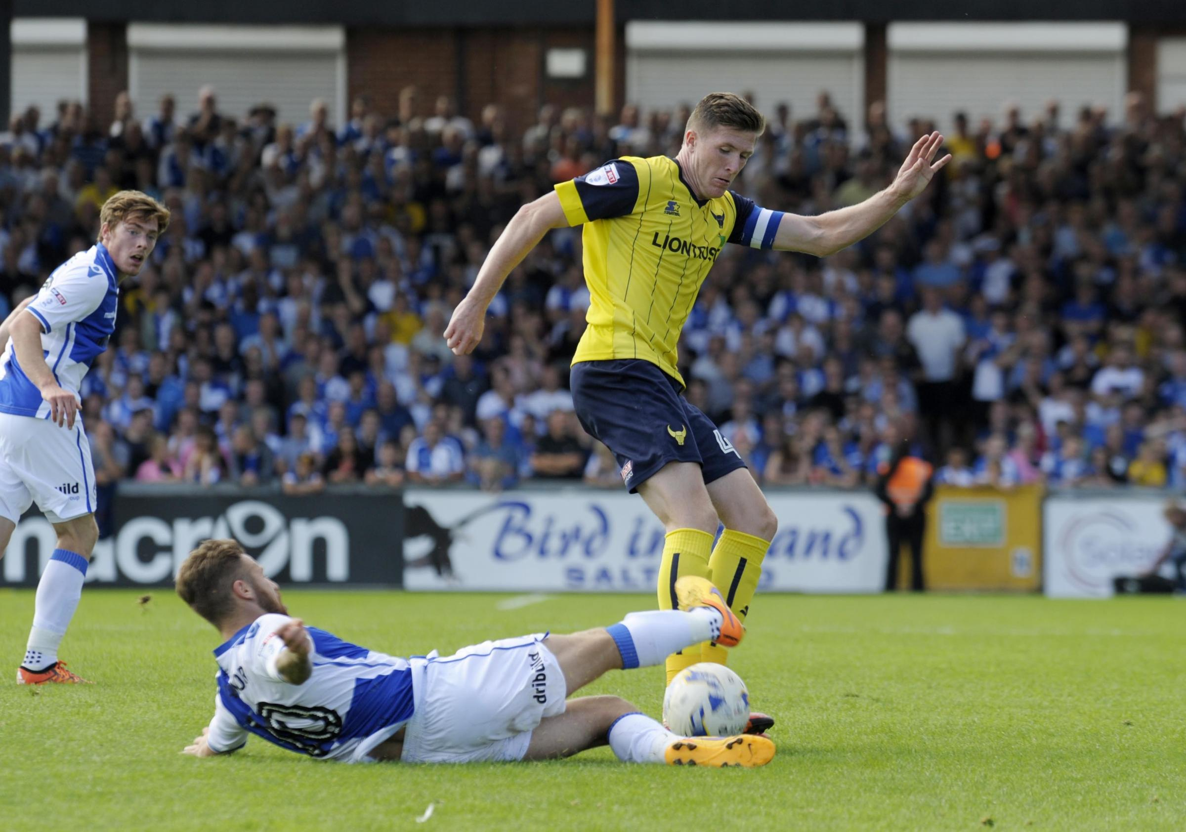 Oxford United's John Lundstram says he is not burdened by wearing the captain's armband Picture: David Fleming