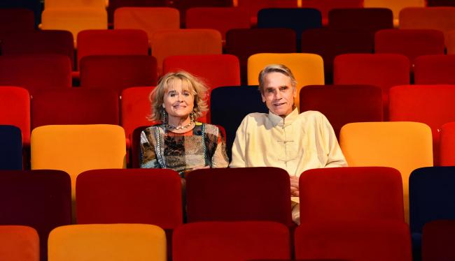 Jeremy Irons and Sinéad Cusack in the Oxford Playhouse's newly-revamped auditorium.