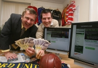 Carl Christensen, left, and Simon Lassam have set up ThePeoplesClub.com to buy a football club