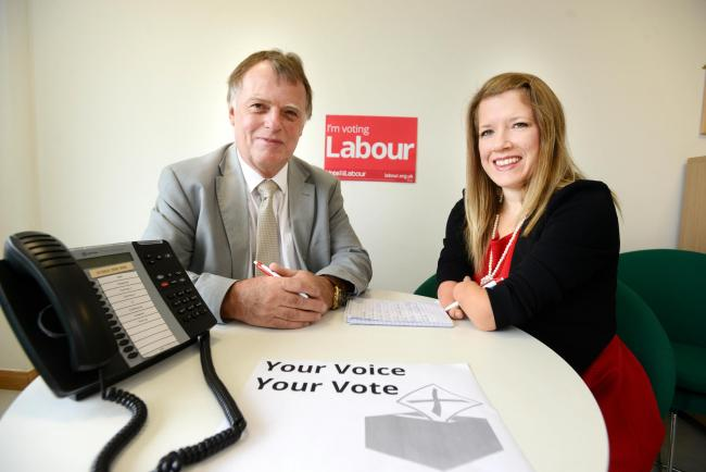 Andrew Smith MP and the council's disabilities champion councillor Marie Tidball at the constituency office