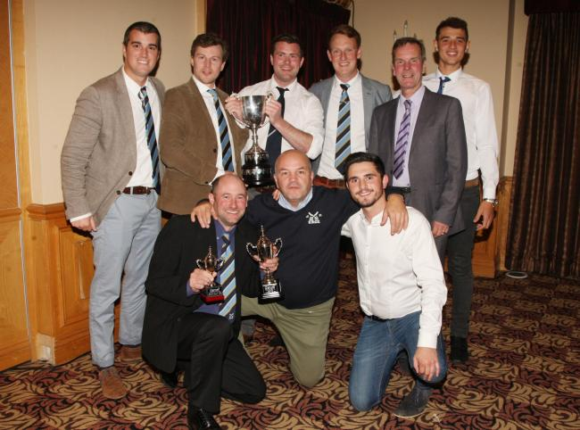 Division 1 champions Aston Rowant 2nd with their trophy Picture: Steve Wheeler