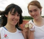 Oxfordshire's Kirsty Warland (left), with her gold medal, and Danielle Anderson, with her silver, represent England on Saturday