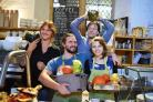 The Vaults and Garden cafe in Oxford has been nominated for Most Sustainable Restaurant at the 2016 Oxfordshire Restaurant of the Year awards. Cafe owner Will Pouget, back right, is pictured with his operations manager Natacha Cirou, left, and staff membe