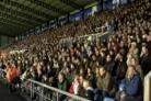 Packed: The crowded North Stand