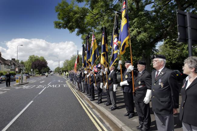 A repatriation ceremony in Headley Way in 2009. Picture Damian Halliwell