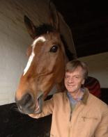 Trainer Mark Bradstock with King Harald