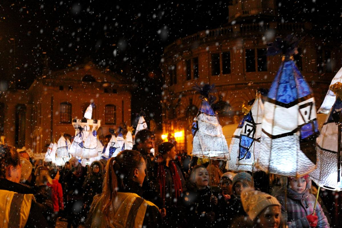 Despite there being no real snow, organizers recreated the spirit of winter for everyone!