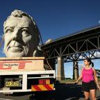 Oxford Mail: Jeremy Clarkson's giant, grey head has been doing the rounds in Sydney