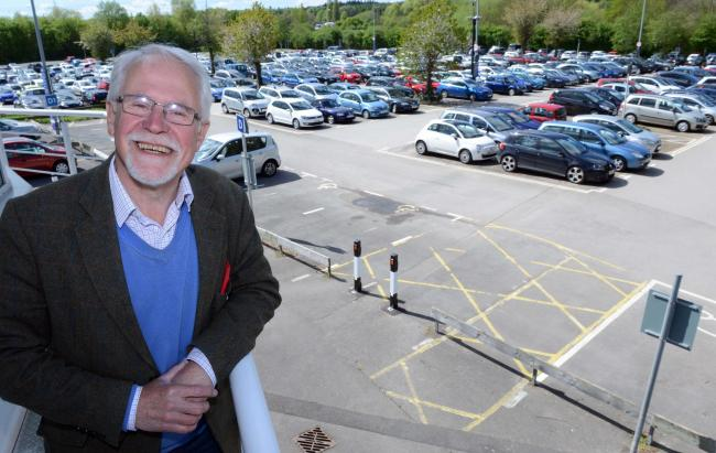 Oxford city councillor John Tanner at Redbridge Park and Ride in Oxford, as Oxford City Council have unveiled an alternative transport vision to Oxfordshire Country council. It involves eventually closing off much of the city centre to private vehicles an